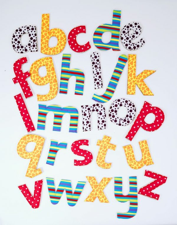 Feely Fabric Letters