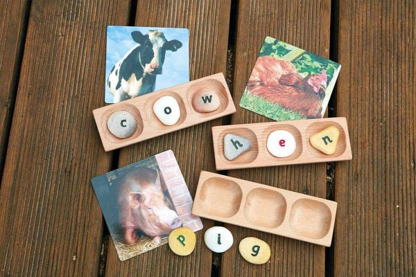 3-Pebble Word-building Tray (Set of 6)