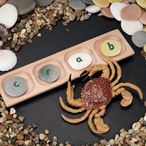 4-Pebble Word-building Tray