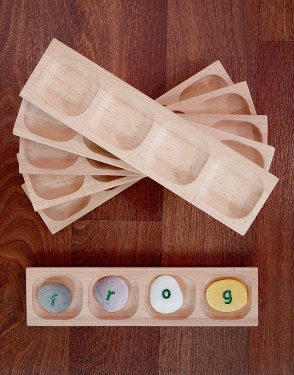 4-Pebble Word-building Tray (Set of 6)