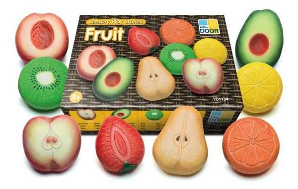 Sensory Play Stones Fruit