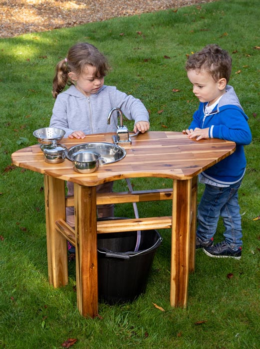Acacia Play Curved Mud & Water Table