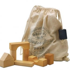 Wooden Blocks in Sack