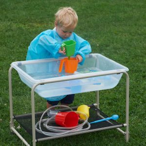 Clear Sand & Water Tray with Stand
