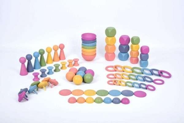 Rainbow Wooden Super Set