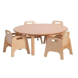 Circular Table & 4 Sturdy Chairs