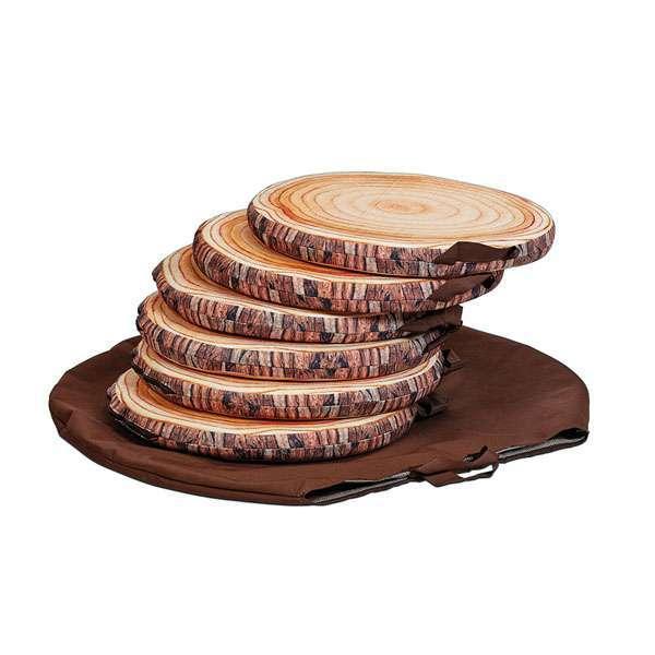 Log Seat Pads with Bag