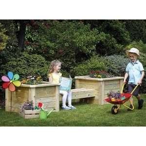 Outdoor Planter & Bench Combo