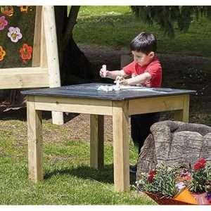 Outdoor Chalkboard Table