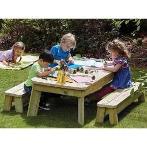 Outdoor Rectangular Table & Bench Set