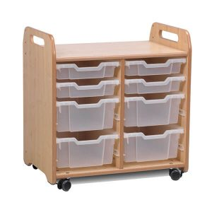2 Column Tray Storage Unit