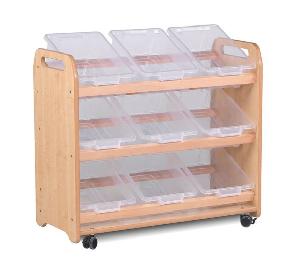 Tilt Tote Storage 9 tubs/baskets