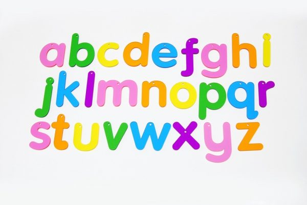 Lowercase Rainbow Letters