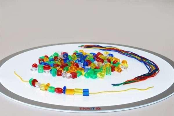 Translucent Jumbo Lacing Beads - Pk180 + 12 laces