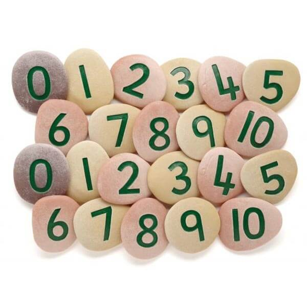Jumbo Number Pebbles