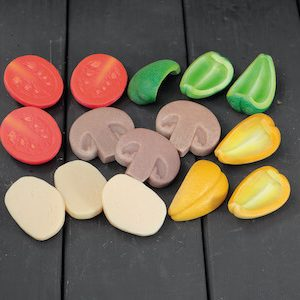 Pizza Toppings – Sensory Play Stones