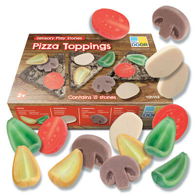 Pizza Toppings – Sensory Stones