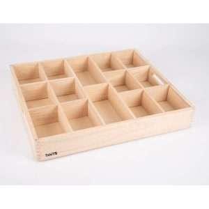 Wooden Sorting Tray - 14 Way