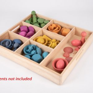 Wooden Sorting Tray - 7 Way