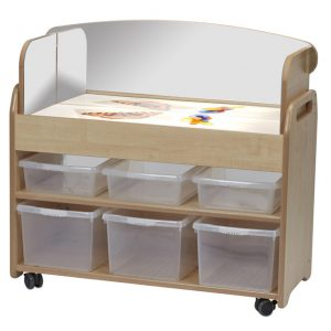 Light Box Trolley with Mirror Surround