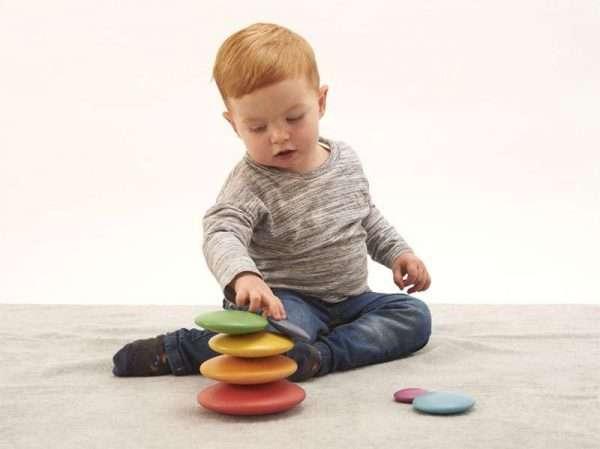 Rainbow Wooden Buttons
