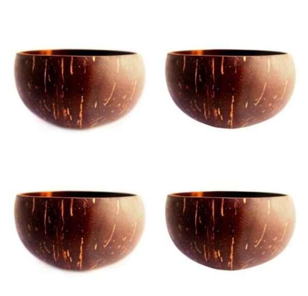 4 Plain Coconut Bowls