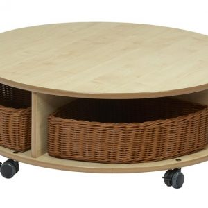 Mobile Single Tier Circular Unit with 4 Baskets