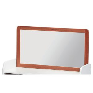 Walnut Mirror for Low Storage Unit