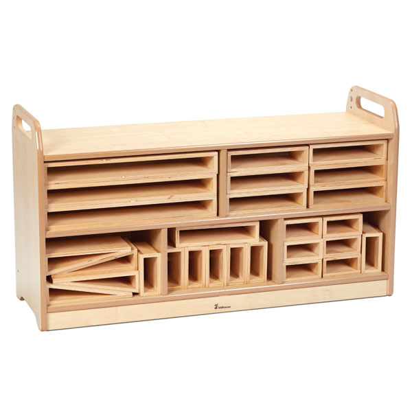 Hollow Block Storage Unit with Back