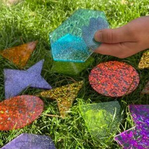 Rainbow Glitter Shapes
