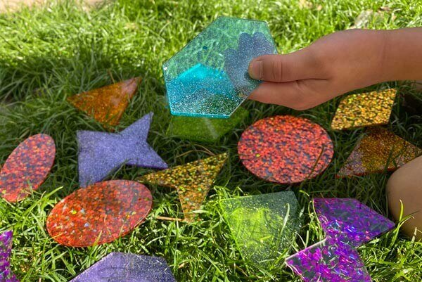 Rainbow Glitter Shapes