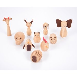 Wooden Animal Friends