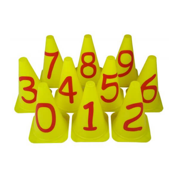 Numbered Cones Set