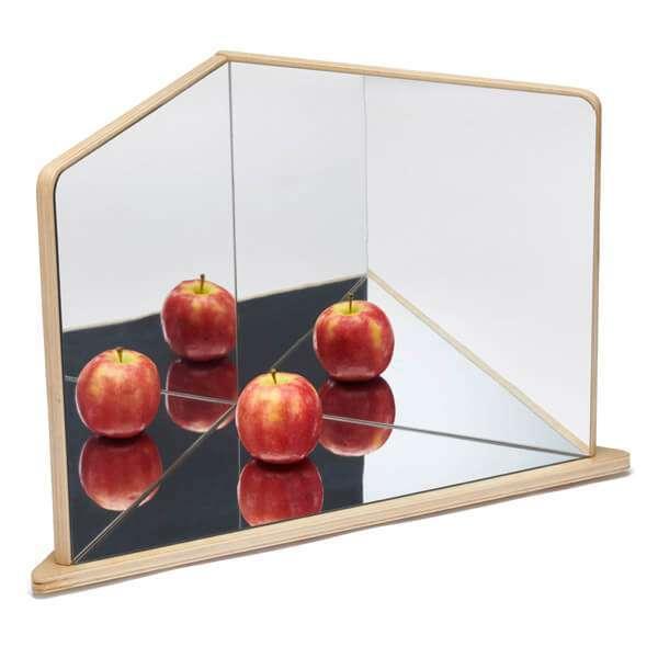 Wooden Four Way Mirror