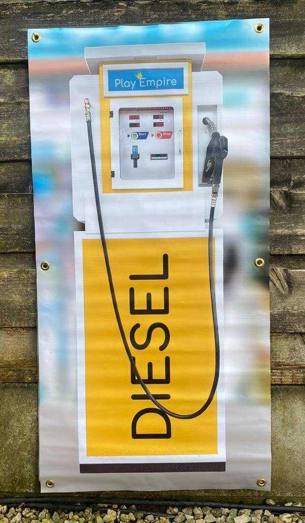 Single Fuel Pump Backdrops