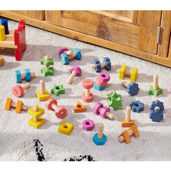 Rainbow Wooden Nuts & Bolts