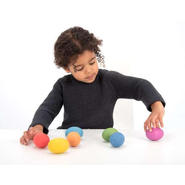 Rainbow Wooden Eggs